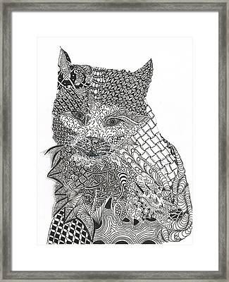 Tangled Cat Framed Print