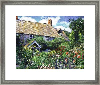 Tangled English Garden Framed Print by David Lloyd Glover