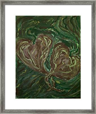 Tangled Hearts Framed Print by Brenda Adams