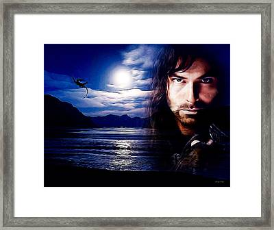 Kili And The Lonely Mountain Framed Print