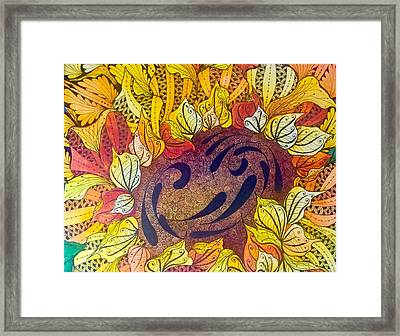 Tangled Sunflower Framed Print