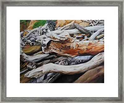 Tangled Timbers Framed Print