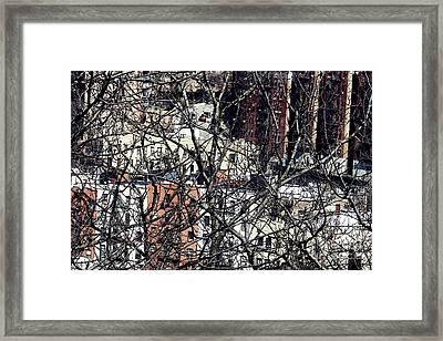 Tangled Town Framed Print by Sarah Loft
