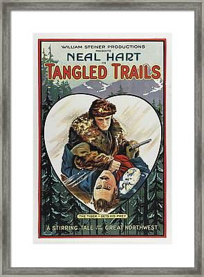 Tangled Trails 1921 Framed Print by Mountain Dreams