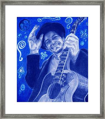 Tangled Up In Blue Framed Print by Kathleen Kelly Thompson