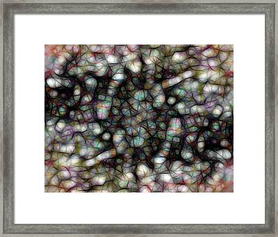 Tangled Web Abstract Art Framed Print by Ann Powell