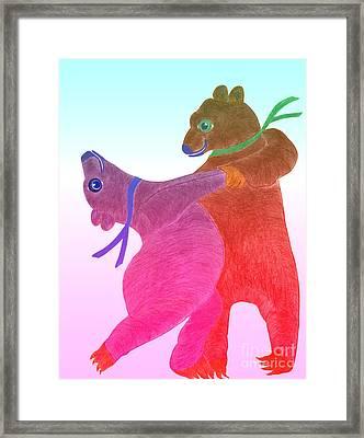 Tango Bears Framed Print by Tess M J Iroldi