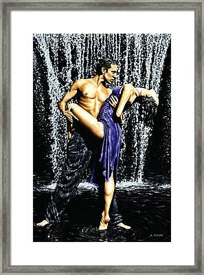 Tango Cascade Framed Print by Richard Young