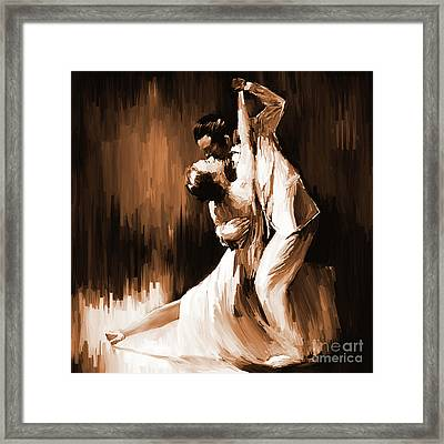 Tango Couple Dance 01 Framed Print by Gull G