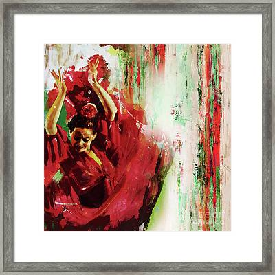 Framed Print featuring the painting Tango Dance 45g by Gull G