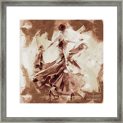 Framed Print featuring the painting Tango Dance 9910j by Gull G
