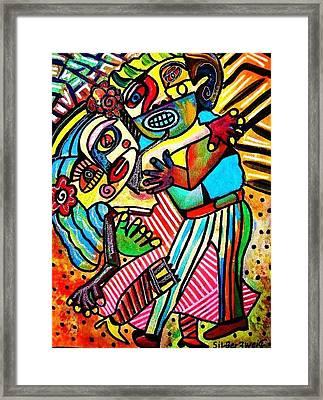 Tango Dance Of Love Framed Print