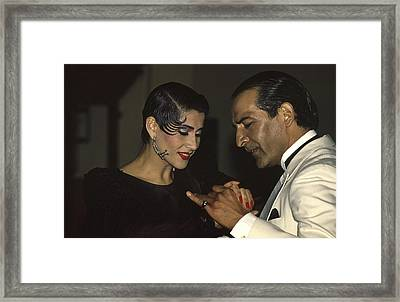 Tango Dancers Framed Print by Michael Mogensen