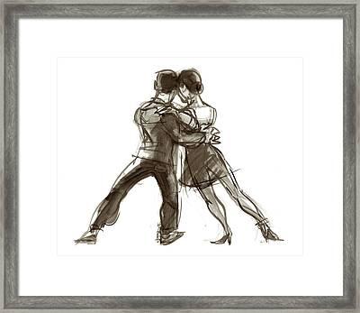 Tango Triangle Framed Print