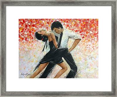 Tango Dancers Framed Print