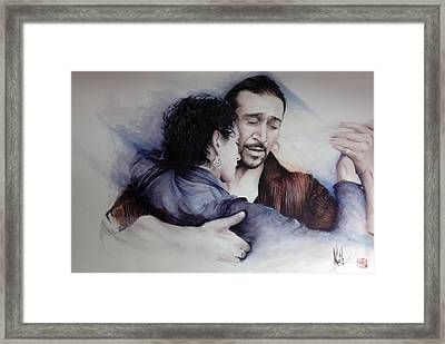Tango Embrace Framed Print by Alan Kirkland-Roath