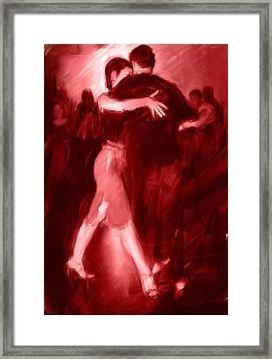 Tango In Red Framed Print by H James Hoff