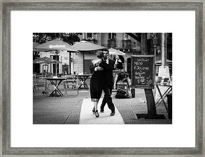 Tango In The Plaza Framed Print