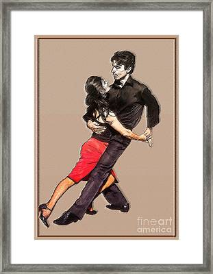 Tango Framed Print by Linda  Parker