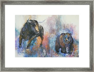 Tango On Wall Street Framed Print