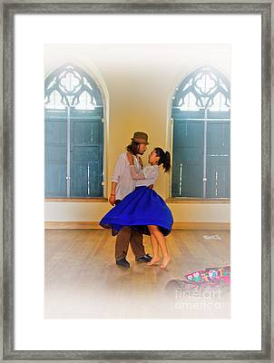 Tango Practice Framed Print