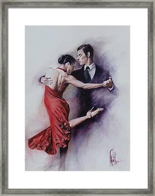 Tango Quartet 4/4 Framed Print by Alan Kirkland-Roath