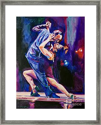 Tango Romantico Framed Print by David Lloyd Glover