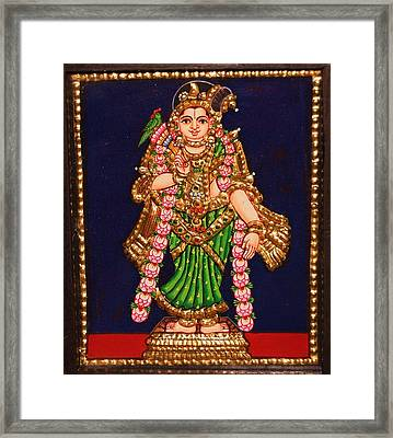 Tanjore Painting - Andal Framed Print