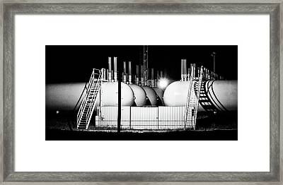 Framed Print featuring the photograph Tank Shadows by Bill Kesler
