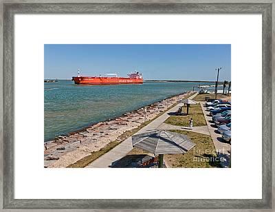 Tanker Transporting Crude Oil Framed Print by Inga Spence