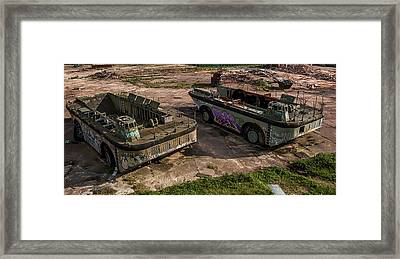 Tanks Framed Print by Angela Aird