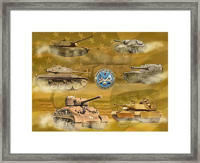 Tanks Four Framed Print by Ken Frischkorn