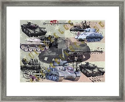 Framed Print featuring the photograph Tanks by Ken Frischkorn