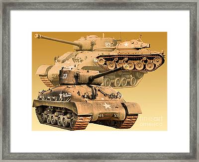 Framed Print featuring the photograph Tanks Two by Ken Frischkorn