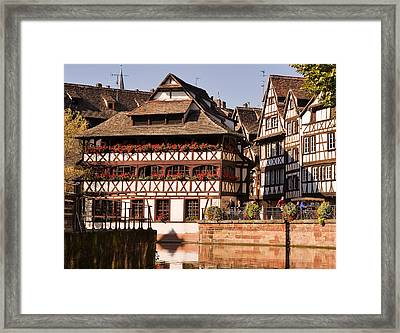 Tanners House Strasbourg Framed Print by Louise Heusinkveld