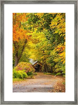 Tannery Hill Covered Bridge Framed Print
