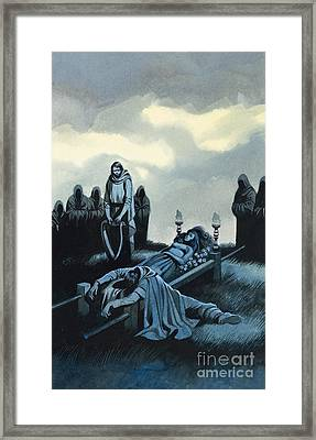 Tannhauser And Elizabeth Framed Print