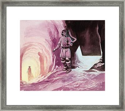 Tannhauser Following Venus Inside The Cavern Framed Print