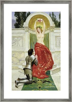 Tannhauser In The Venusburg Framed Print by John Collier