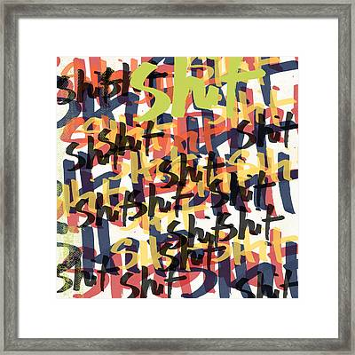 Tantrum- Art By Linda Woods Framed Print