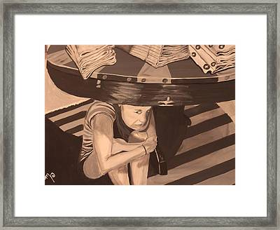 Tantrum Framed Print by Miki Proud