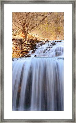 Tanyard Creek Waterfall Arkansas Framed Print by Lourry Legarde