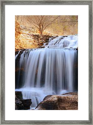 Tanyard Creek Waterfall Bella Vista Arkansas Framed Print by Lourry Legarde