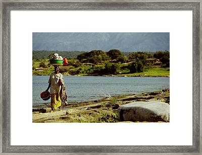 Tanzania Done With The Dishes Framed Print
