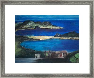 Taormina Veduta Framed Print by Angela Puglisi
