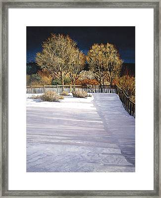 Taos Afternoon Shadows Framed Print by Donna Clair