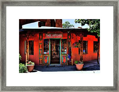 Taos Artisans Gallery Framed Print by David Patterson