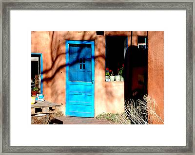 Taos Blue Door Framed Print