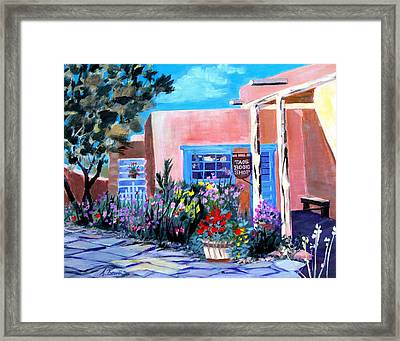Taos Book Shop Framed Print