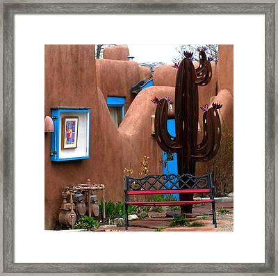 Taos Cactus Framed Print